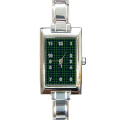 Lamont Tartan Rectangular Italian Charm Watch