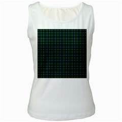 Lamont Tartan Womens  Tank Top (White)