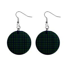 Lamont Tartan Mini Button Earrings