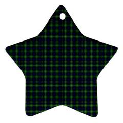 Lamont Tartan Star Ornament (Two Sides)