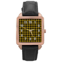 MacLeod Tartan Rose Gold Leather Watch
