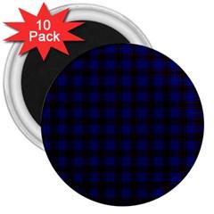 Homes Tartan 3  Button Magnet (10 pack)