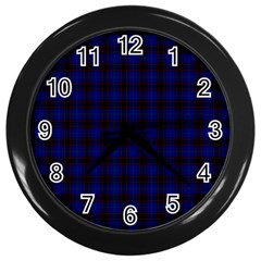 Homes Tartan Wall Clock (Black)