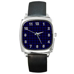 Homes Tartan Square Leather Watch