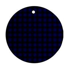 Homes Tartan Round Ornament (two Sides)