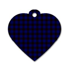 Homes Tartan Dog Tag Heart (Two Sided)