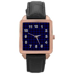 Homes Tartan Rose Gold Leather Watch
