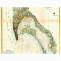 Vintage Map Of The San Diego Bay (1857) Canvas 12  X 16  (unframed)