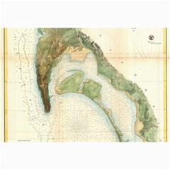 Vintage Map Of The San Diego Bay (1857) Canvas 12  X 18  (unframed)
