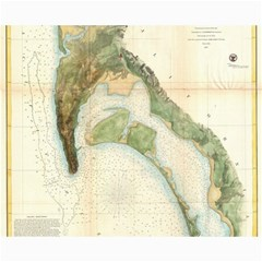 Vintage Map Of The San Diego Bay (1857) Canvas 16  x 20  (Unframed)