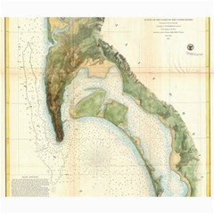 Vintage Map Of The San Diego Bay (1857) Canvas 20  x 24  (Unframed)