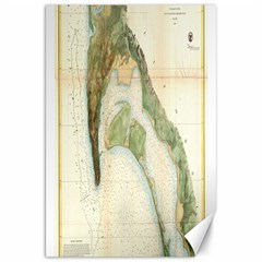 Vintage Map Of The San Diego Bay (1857) Canvas 20  x 30  (Unframed)