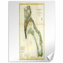 Vintage Map Of The San Diego Bay (1857) Canvas 36  x 48  (Unframed)
