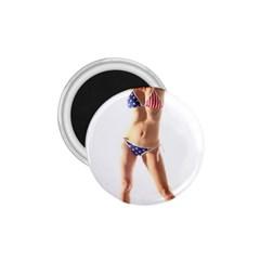 Usa Girl 1.75  Button Magnet