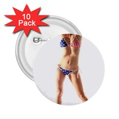 Usa Girl 2.25  Button (10 pack)
