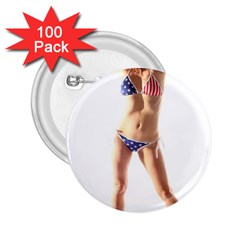 Usa Girl 2 25  Button (100 Pack)