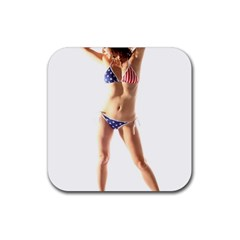 Usa Girl Drink Coaster (Square)