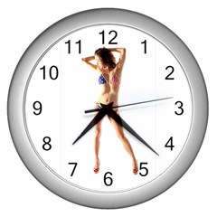 Usa Girl Wall Clock (silver)