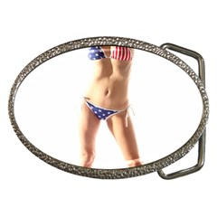Usa Girl Belt Buckle (Oval)