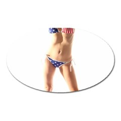 Usa Girl Magnet (Oval)