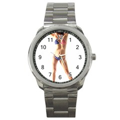 Usa Girl Sport Metal Watch