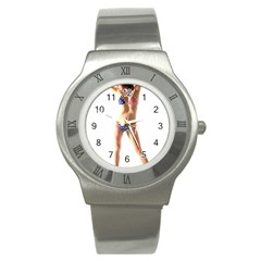 Usa Girl Stainless Steel Watch (unisex)