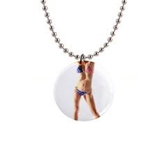 Usa Girl Button Necklace