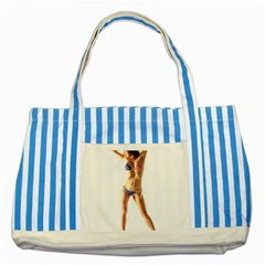 Usa Girl Blue Striped Tote Bag