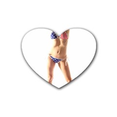 Usa Girl Drink Coasters 4 Pack (Heart)