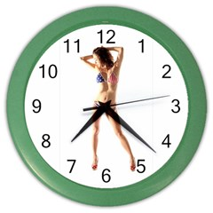 Usa Girl Wall Clock (Color)