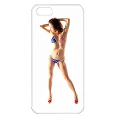 Usa Girl Apple iPhone 5 Seamless Case (White)
