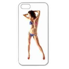 Usa Girl Apple Seamless Iphone 5 Case (clear)