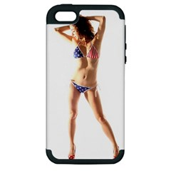 Usa Girl Apple iPhone 5 Hardshell Case (PC+Silicone)