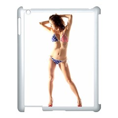 Usa Girl Apple iPad 3/4 Case (White)