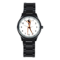 Usa Girl Sport Metal Watch (Black)