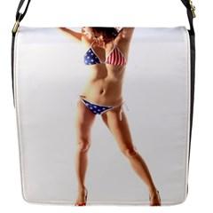 Usa Girl Flap closure messenger bag (Small)