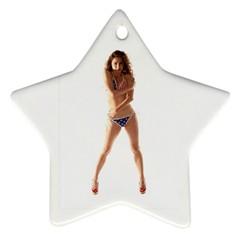 Usa Girl Star Ornament
