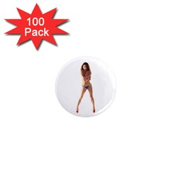 Usa Girl 1  Mini Button Magnet (100 Pack)