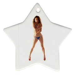 Usa Girl Star Ornament (two Sides)