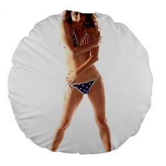 Usa Girl 18  Premium Round Cushion