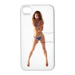 Usa Girl Apple iPhone 4/4S Hardshell Case with Stand