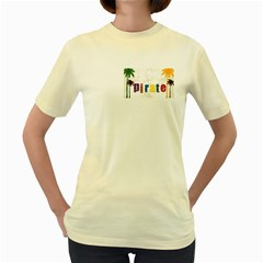 P1234  Womens  T-shirt (Yellow)