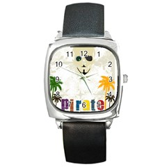 P1234 Square Leather Watch
