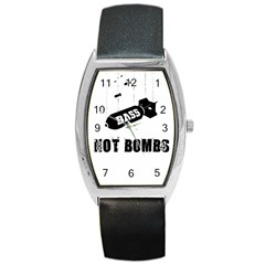 Drop bass not bombs Barrel Style Metal Watch