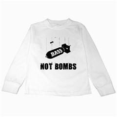 Drop bass not bombs Kids Long Sleeve T-Shirt