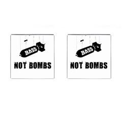 Drop bass not bombs Cufflinks (Square)