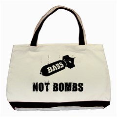 Bass2 Twin-sided Black Tote Bag