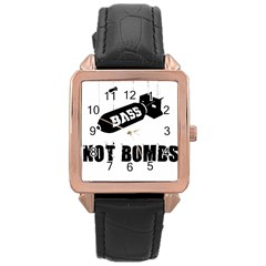 Bass2 Rose Gold Leather Watch