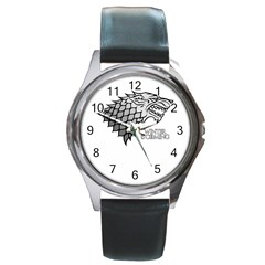 Winter is Coming ( Stark ) 2 Round Metal Watch (Silver Rim)