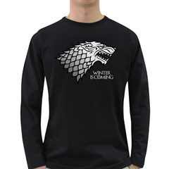 Winter is Coming ( Stark ) 2 Mens' Long Sleeve T-shirt (Dark Colored)